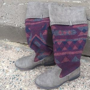 Wool and Vegan Leather Tall Boots
